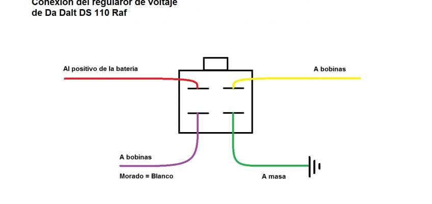 Diagrama De Un Regulador 4 Cables Tipo 110cc