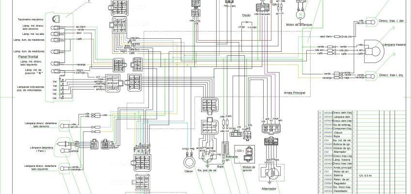 circuito electrico moto 110